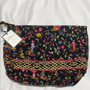 Vera Bradley zip makeup bag black base NWT